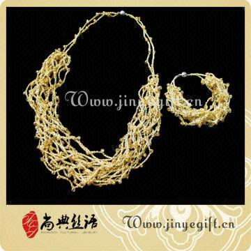 1 Crochet Jewelry Italian Gold Plated Jewelry Sets 2 Handcrafthigh
