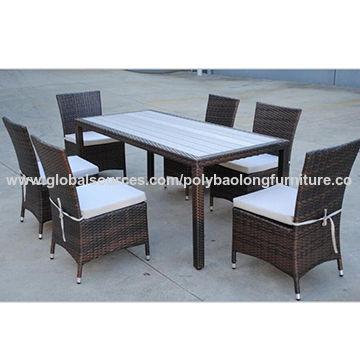2016 Luxury Wicker Polywood Dining Set