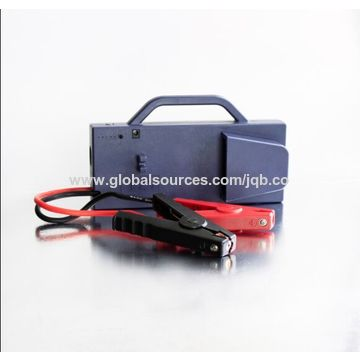China Portable jump starter, built-in LED flashlight crank 12V vehicle and supply LED illumination
