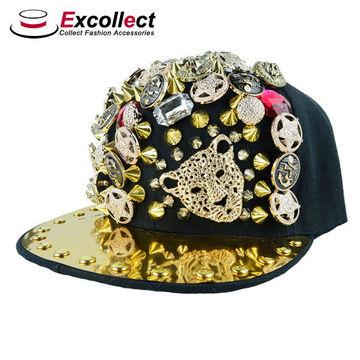 ... China Flat Brim Metal Plate Snapback Caps 3b1c0f8631ea
