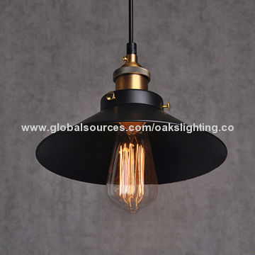 Vintage pendant light black industrial style metal pendant lamp china vintage pendant light black industrial style metal aloadofball Choice Image