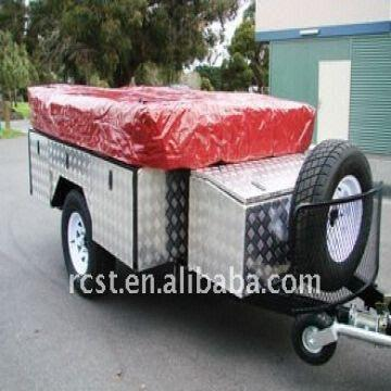best selling 7x4ft soft floor camper trailer and canvas