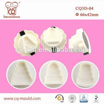 Cake decorating supplies wholesale plunger 3D fondant cake cutter ...