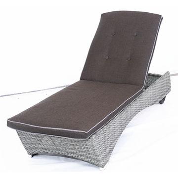 ... China Modern All Steel Air Pump Chaise Lounge Outdoor Lounge Chair PE  Rattan Wicker Sun Lounger ...