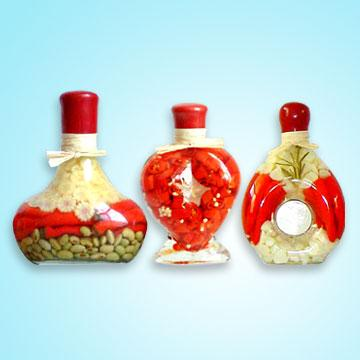 Decorative Vinegar Bottles Ideal For The Kitchen Or As
