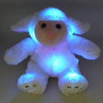 China Novelty Plush Animal Light Up Toy With 3 Colors Changing On