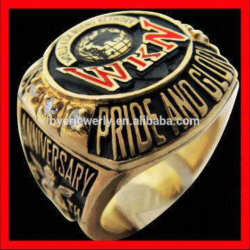 The best quality cheap boxing championship rings gold finish One