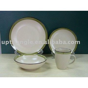 ... China 16pcs Stoneware Two Tone Dinnerware Sets-two Tone  sc 1 st  Global Sources & 16pcs Stoneware Two Tone Dinnerware Sets-two Tone Color Glazed ...