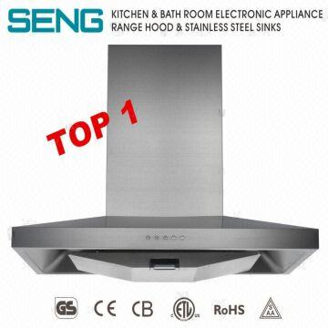 China NEW Big Suction Wall Mount Stainless Steel Range Hood Kitchen Aire  Ventilator