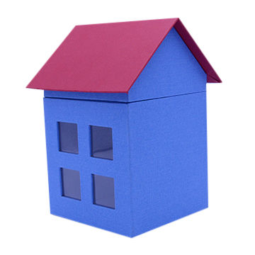 China House Shaped Gift Box With Pvcpet Window On Global