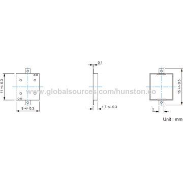 Hong Kong SAR SMD Piezo Transducer with Minimum Sound Output of 70dBA at 10cm