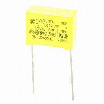 Y Capacitor with Y2 Class, Flame-retardant Plastic Case and