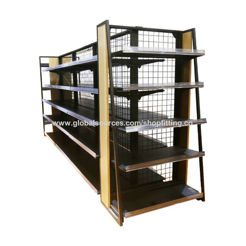 China New design customized modern wood metal clothing display rack