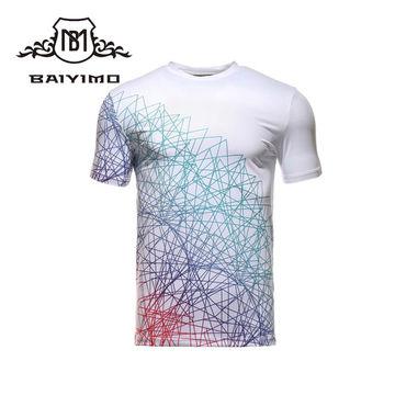 cb1bb3b0 ... China Wholesale Round Neck Short Sleeve Printing Pattern T Shirts for  Men ...