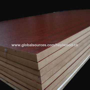 Populair China 18mm melamine paper faced MDF board for furniture from Linyi MY44