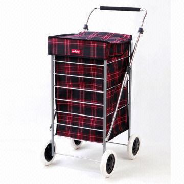 ... United Kingdom Bolso rojo de la carretilla de las compras de la rueda  del tartán 4 833305aa220