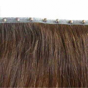 China Skin Weft Hair Extension With Beads 100 Remy Human Available In