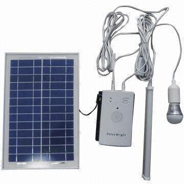 Portable Solar Lighting Kit With 2pcs 3w Led Bulb Lamp And