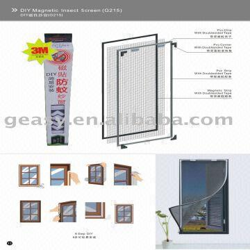 China Diy Magnetic Insect Screen Window