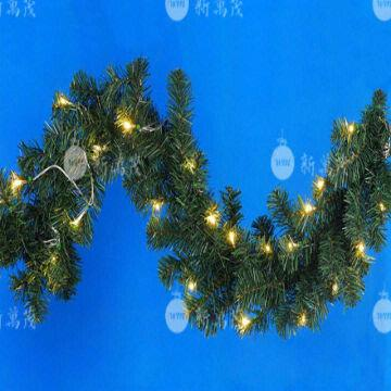 china 8 ft pre lit led pine artificial christmas garland