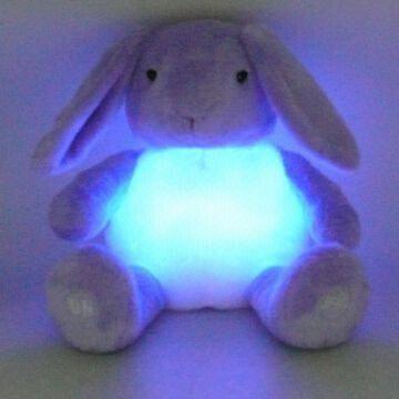 China Novelty Plush Bunny Light Up Toys Battery Operated On Global