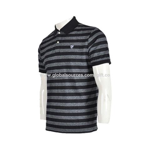 3e8a9d822b35 Freddie Black   White Stripe Polo Shirt Enlarge Source · Macau SAR Black  and White Striped Customization Men s Short sleeved