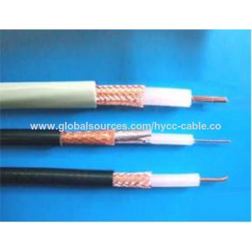 Coaxial cable copper clad steel/bare copper, preferably for CCTV or ...