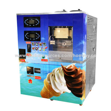 Coin operated ice cream vending machine, self-service