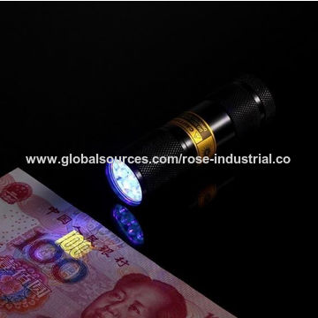 China UV LED light/ultraviolet torch, for jade identification, ticket inspection, pet stains detector