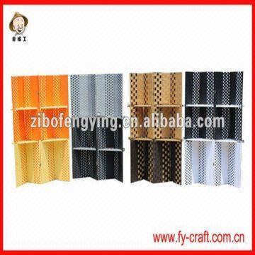 China Room Divider Screen 1 Paper String Wood Frame Cardboard 2 175x45