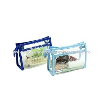 China Good Quality Transparent PVC Cosmetic Bag with Zipper Portable Makeup Bag