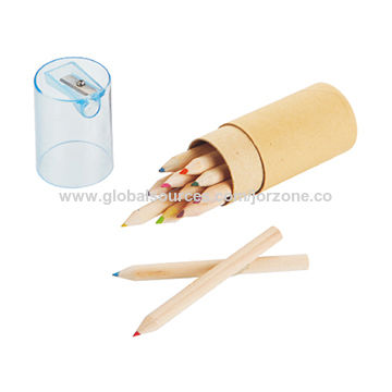 China 12pcs Small Size Wooden Color Pencils From Ningbo Manufacturer