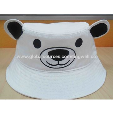 9053590eb60 China Children Embroidery Penguin Bucket Hat China Children Embroidery  Penguin Bucket Hat ...