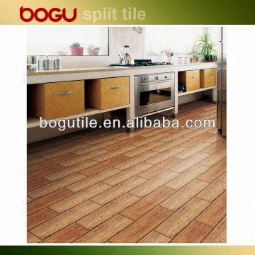 145x600mm Extruded Tile Wooden Design Terracotta Wood Finish Floor