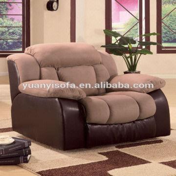 China Luxury Lax Fabric Sofa Recliner Yrc