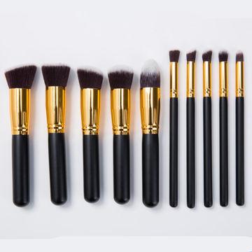 ... China Amazon Best Seller 10pcs Sigma Leather Kabuki Makeup Brush Set ...