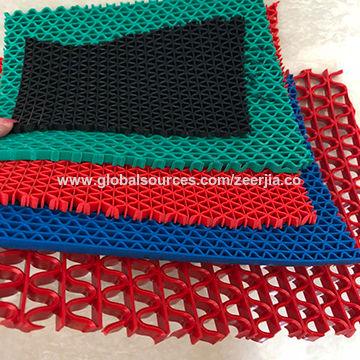 China S shape pvc flooring coil mat,anti slip flooring,put on ...