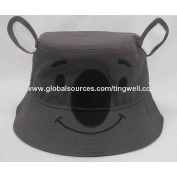 92cbd057b52 ... China Children Embroidery Penguin Bucket Hat ...