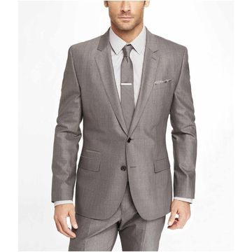 Made to Measure Men's Slim Fit Gray Stripe Wedding Suits | Global ...