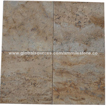 Honed And Filled Coffee Travertine Tiles For Flooring And Wall