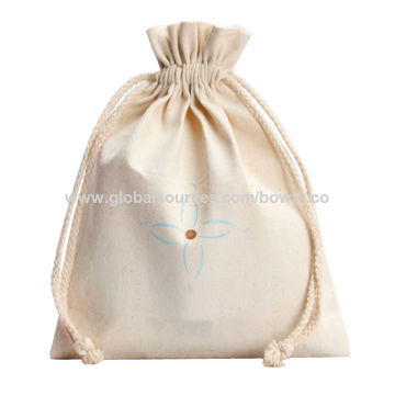 54f30e833 China Eco friendly Small delicate Cute Christmas Sack Cotton String Bag  Multiple colors can be customized ...