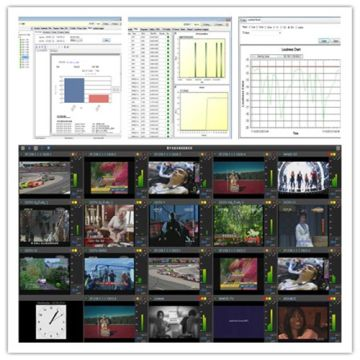 Broadcast TV video quality Monitor IPTV streaming recorder