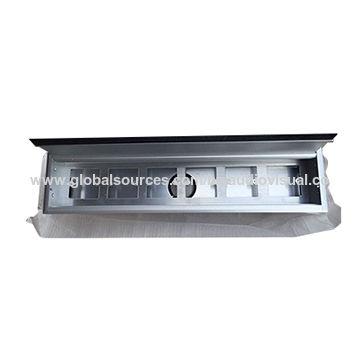 Awe Inspiring Aluminum Office Desk Cable Grommet Brushed Aluminum Panel Tabletop Wiring Digital Resources Minagakbiperorg
