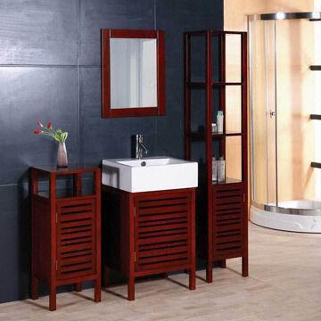Solid Wood Bathroom Cabinet China