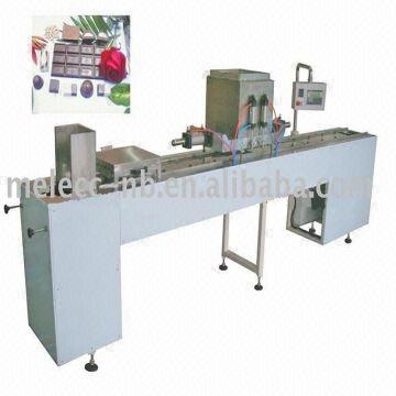 Semi-Auto Chocolate casting machine 1.SS304 frame and chains 2.Servo ...