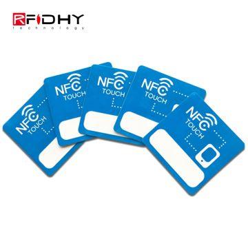 Shanghai 25*38mm Adhesive MIFARE DESfire EV1 4K NFC Sticker