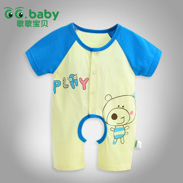 7f4711a98 Summer Newborn Baby Clothing Jumpsuit Character Unisex Baby Boy ...
