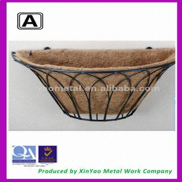China Decorative Metal Wall Basket Planters Wrought Iron Planter Garden Out