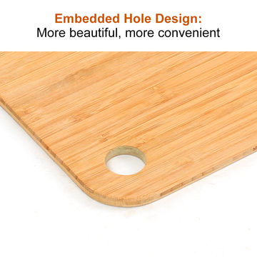 China 2018 Hot Sale Customized Round Shape Natural Bamboo Chopping Board with Holder
