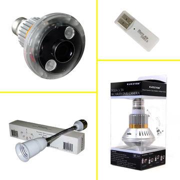 with Cover Eazzy BC-680C E27 Hidden Bulb CCTV Security DVR Camera 2.8mm Len